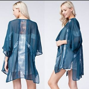 Honey Belle gorgeous lacy kimono wrap cardigan